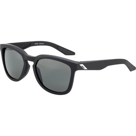 100% Hudson Smoke Glasses soft tact black